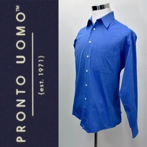 PRONTO UOMO Button Down Dress Shirt 15.5 34/35